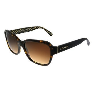 Link to Coach L1010 HC 8232 550713 Womens Dark Tortoise Frame Brown Gradient Lens Sunglasses Similar Items in Women's Sunglasses