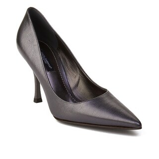 Dolce & Gabbana Women's Pointed Toe Leather Pump Silver (4 options available)