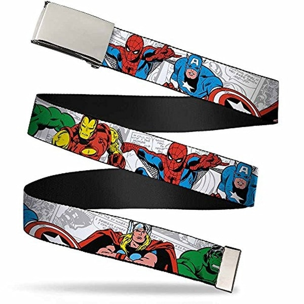 """Buckle-Down Web Belt Avengers 1.25"""""""