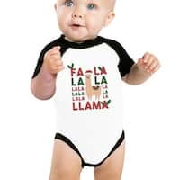 Falala Llama Baby Raglan Shirt Raglan First X-mas Baby Gifts