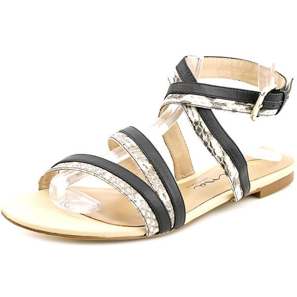 Nina Solana Women  Open-Toe Leather  Slingback Sandal
