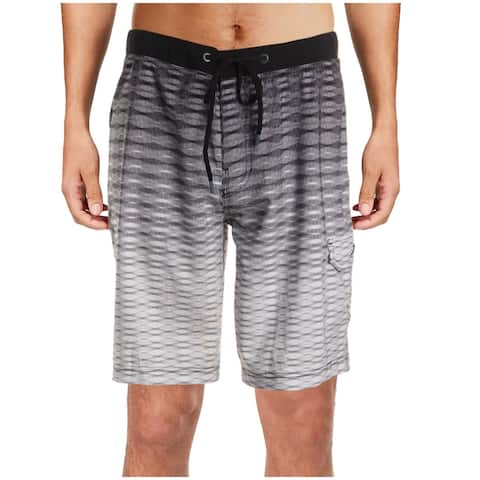 Speedo Mens Graphic Swim Board Shorts - Black - 32