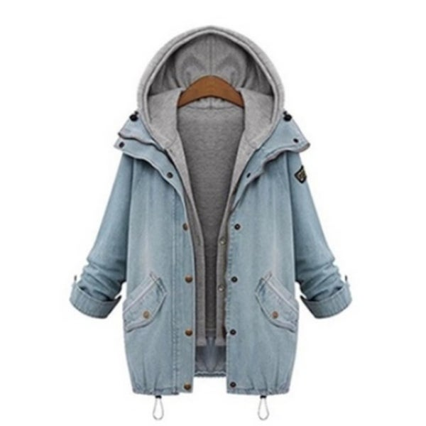 Plus Size Women's Hooded Winter Coat