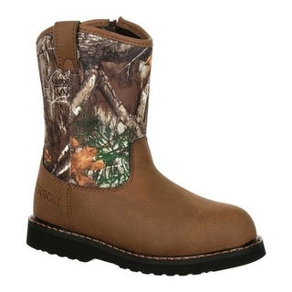 Rocky Children's Lil Ropers Outdoor Boot RKS0358Y Camouflage Nylon