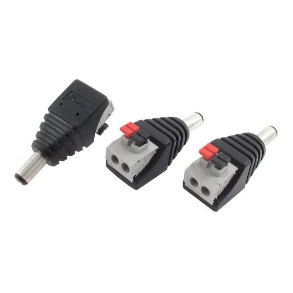 Unique Bargains 3pcs CCTV Camera 5.5x2.1mm DC Power Male Plug Spring Terminal Block Connector