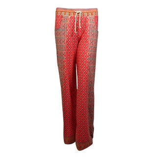 Nanette Lepore Women's Printed Pocket Jersey Pants Swim Cover