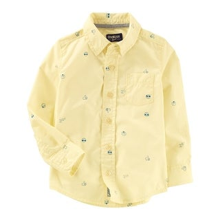 Carter's Little Boys' Poplin Button-Front Shirt, 3-Toddler