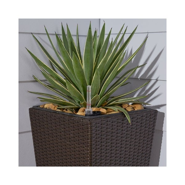 "31"" Coffee Brown Cubico Smart Self-Watering Planter - N/A"
