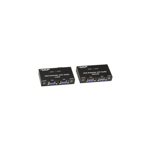 Black Box AC556A-R2 Black Box VGA Extender Kit with Audio, 2-Port Local, 2-Port Remote - 1 Input Device - 4 Output Device - 500