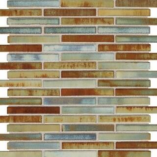 "Daltile FA583MSP Fashion Accents - 3"" x 5/8"" Brick Joint Mosaic Wall Tile - Poli"