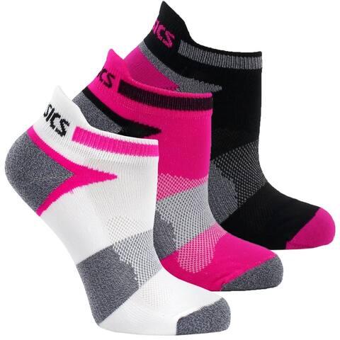Asics Womens Quick Lyte Cushion Single Tab 3-Pack Running Athletic Socks Ankle