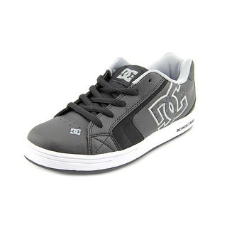 DC Shoes Net SE Youth Round Toe Leather Black Skate Shoe