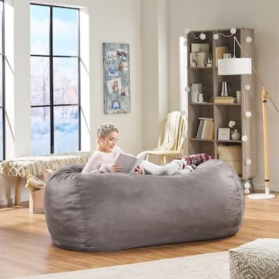 Barracuda 6.5-ft. Suede Bean Bag Cover by Christopher Knight Home