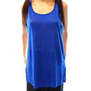 Anne Klein NEW Blue Mariner Women's Size Large L Tank Linen Top