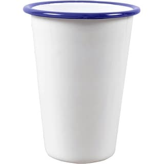 Crow Canyon V93BLU Tumbler, 3 Oz, White With Blue Rim
