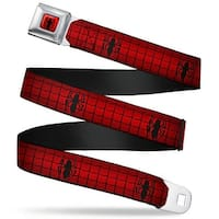 Ultimate Spider Man Spider Logo2 Full Color Red Black Spider Logo2 Web Red Seatbelt Belt