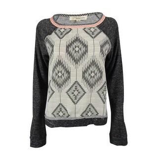 Rewind Juniors' Long Sleeve Round Neck Sweatshirt