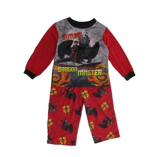 DreamWorks Little Boys Red Dragon Long Sleeve 2 Pc Pajama Set (3 options available)