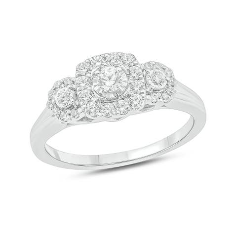 Cali Trove 10KT White Gold with 1/2 ct TDW Fashion Ring.