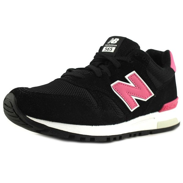 New Balance WL565 Women Round Toe Suede Black Sneakers