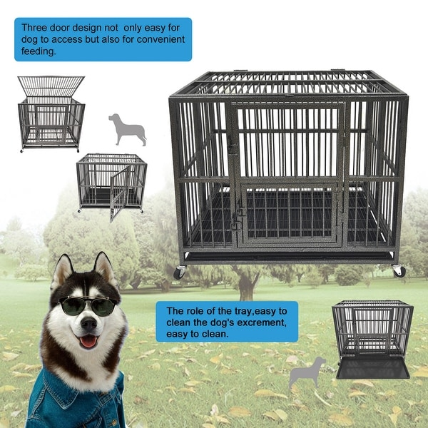 49 Inch Heavy Folding Dog Cage Pet Furniture Dog Crates. Opens flyout.