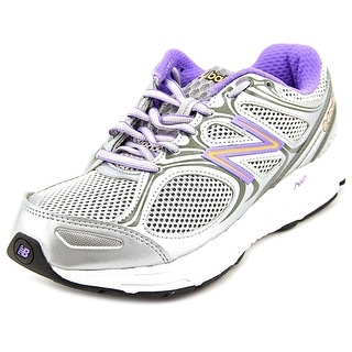 New Balance M840 Women D Round Toe Canvas Silver Walking Shoe