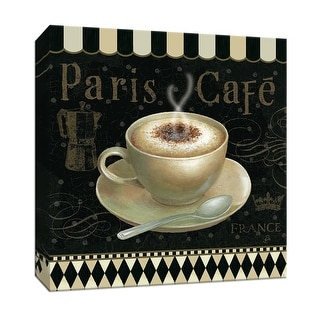 "PTM Images 9-153494  PTM Canvas Collection 12"" x 12"" - ""Cafe Parisian III"" Giclee Coffee, Tea & Espresso Art Print on Canvas"