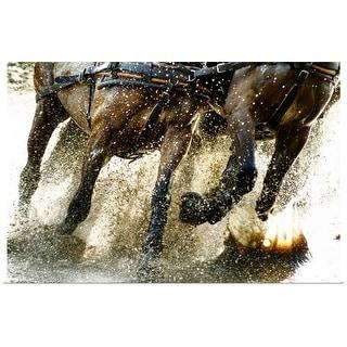 """Running horses"" Poster Print"