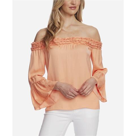 Vince Camuto Womens Bell Sleeve Off Shoulder Blouse - A OR SMALL
