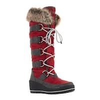 Cougar Women's Lancaster Wedge Snow Boot Merlot Nova Nylon