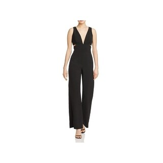 Laundry by Shelli Segal Womens Jumpsuit Cut Out V-Neck