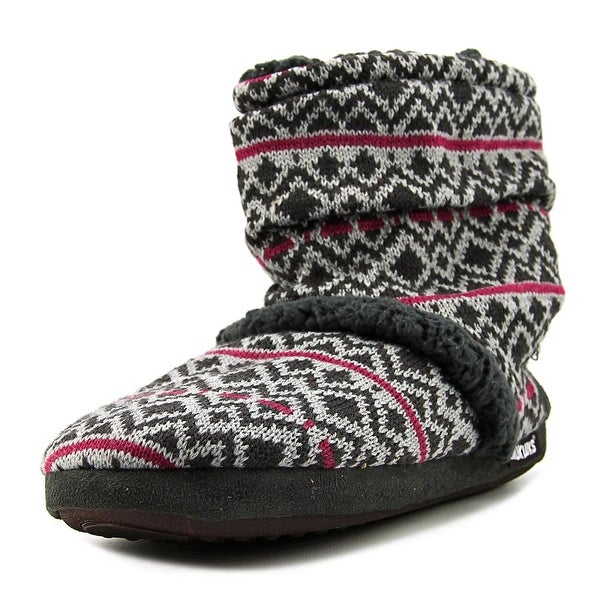 Muk Luks Marl Slouch Boot Women Round Toe Canvas Boot