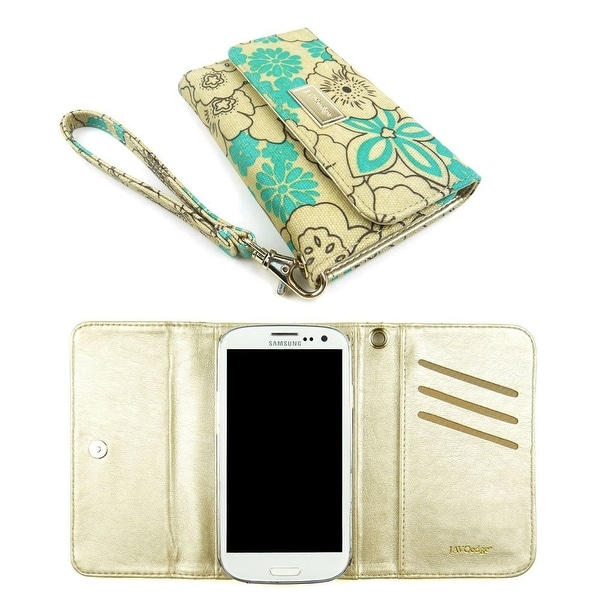 JAVOedge Poppy Clutch Wallet Case with Wristlet for the Samsung Galaxy S3
