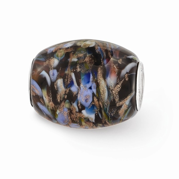 Sterling Silver Reflections Multi-color Glitter Country Girl Glass Bead