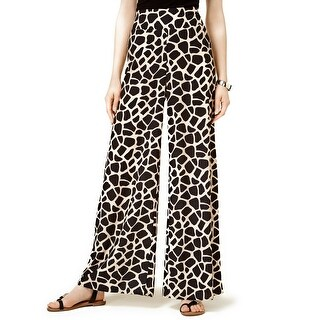 Bar III Giraffe Print Wide Leg Pants - XL
