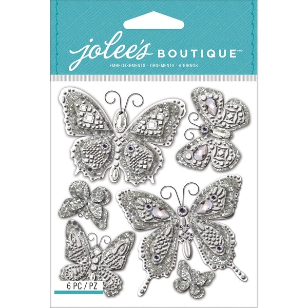 Jolee's Boutique Dimensional Stickers-Butterflies