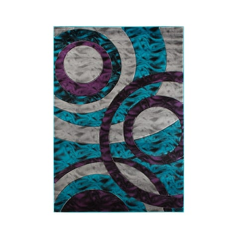 Orelsi Collection Abstract Area Rug