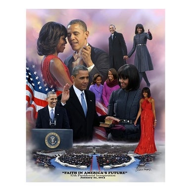''Faith in America's Future: 2013 Obama Inauguration'' by Wishum Gregory Celebrities Art Print (11 x 8.5 in.)