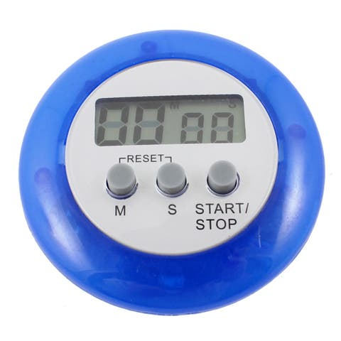 Unique Bargains Home Kitchen Rounded Minute Second LCD Digital Count Down up Memory Timer Clock