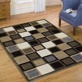 "AllStar Rugs Fume Modern Geometric square Formal design Area Rug (3' 9"" x 5' 1"")"
