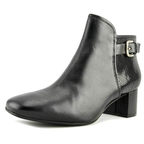 Naturalizer Womens Nailah Leather Square Toe Ankle Fashion Boots