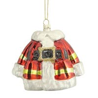 Christmas Brites Traditional Santa Claus Coat Glass Ornament