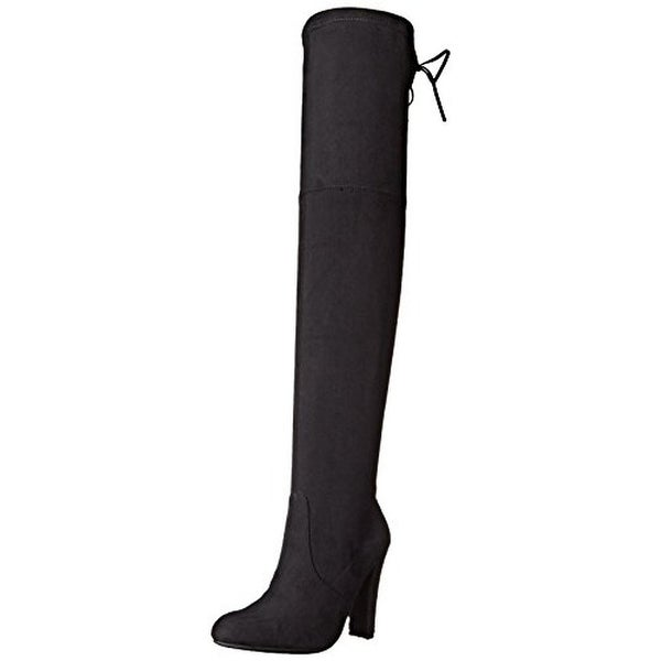 Steve Madden Womens Gorgeous Over-The-Knee Boots Solid Heels