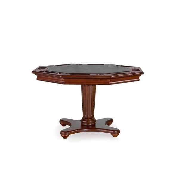 "Hillsdale Furniture 6124GTB Ambassador 52"" Diameter Wood Framed Gaming Table with Dual Tabletop - Medium Brown Cherry"
