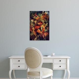 Easy Art Prints Andreas Lie's 'Watercolor Lion' Premium Canvas Art