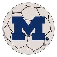 University of Michigan Wolverines Soccer Ball Rug