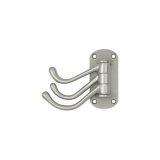 Deltana TSH40 Heavy Duty Solid Brass Triple Swivel Hook from the Home Series