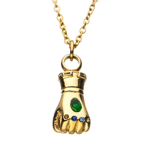 Shop Marvel Thanos Infinity Gauntlet 3d Stainless Steel Necklace