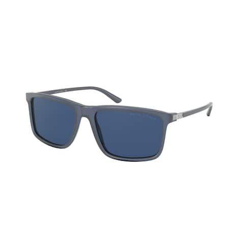 Ralph Lauren RL8182 527680 57 Shiny Transparent Blue Man Pillow Sunglasses