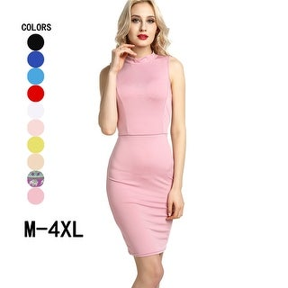 Solid color tight-fitting cocktails backless sexy club office pencil skirt